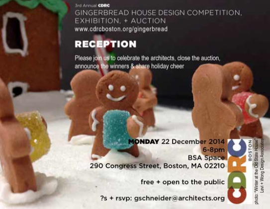Levi Wong Design Gingerbread Exhibition Inivite