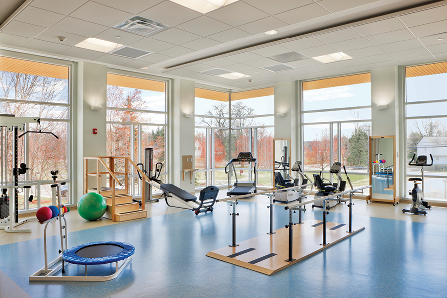 Rehabilitation design lwda for Physical therapy office layout